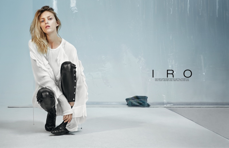 Anja Rubik is the Queen of Cool in IRO's Fall Campaign