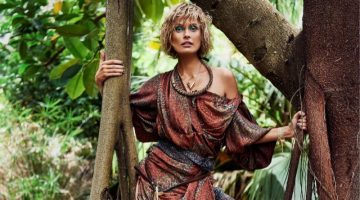 Inguna Butane Poses in Tropical Looks for Glamour Netherlands