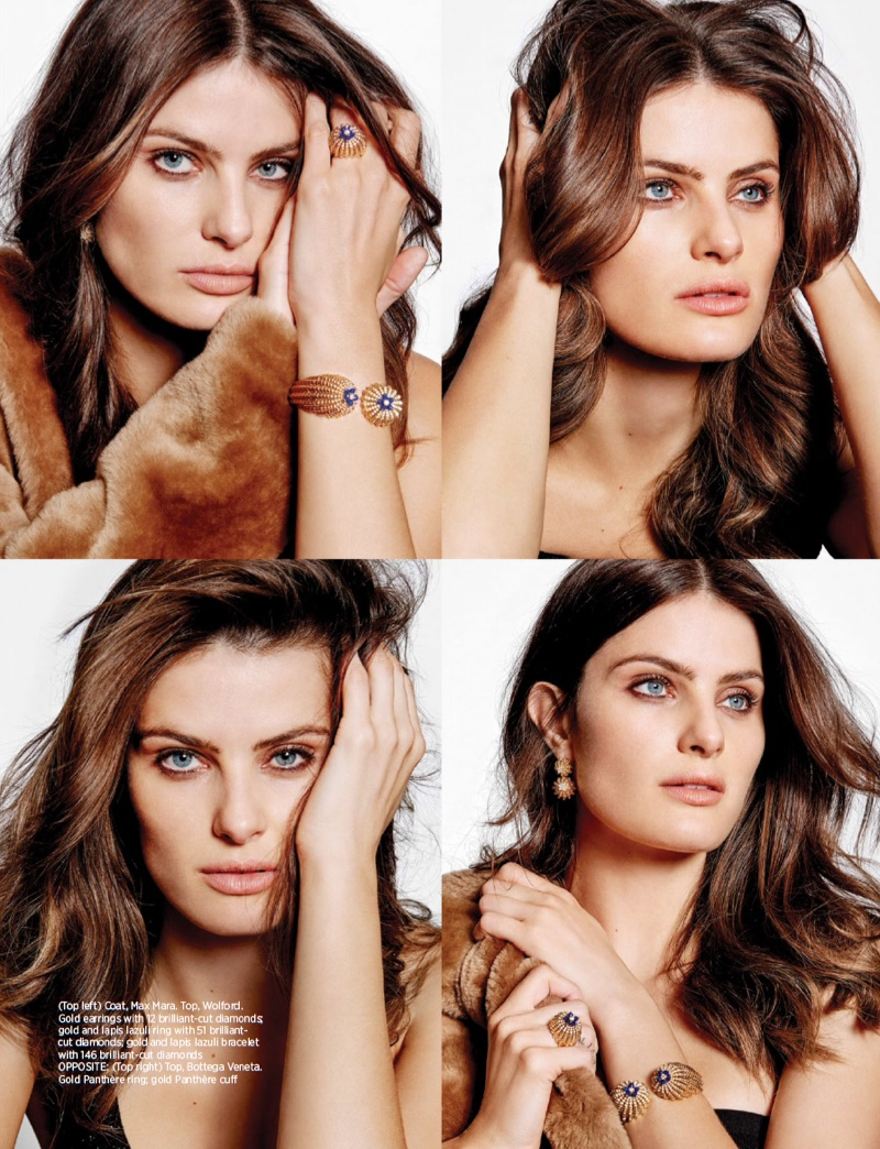 Isabeli Fontana gets her closeup in a collage of photos