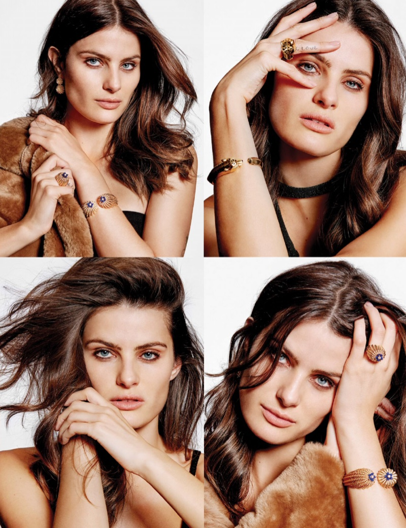 Isabeli Fontana dazzles in gold jewelry pieces