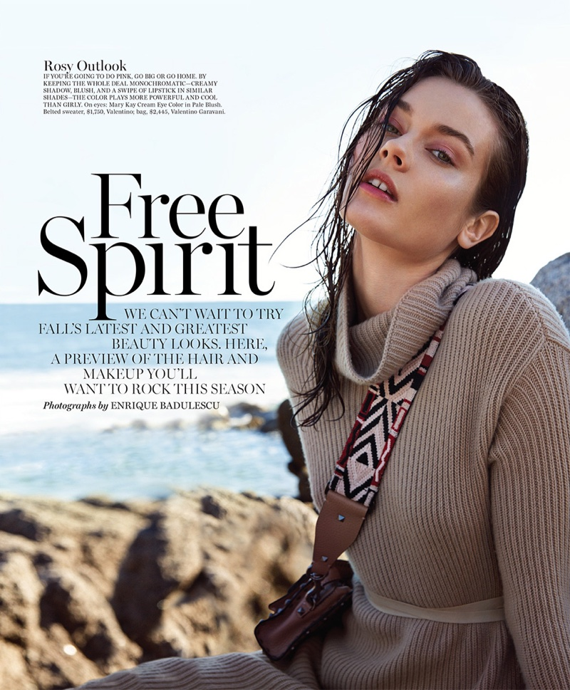 Jac Jagaciak poses in Marie Claire's August issue