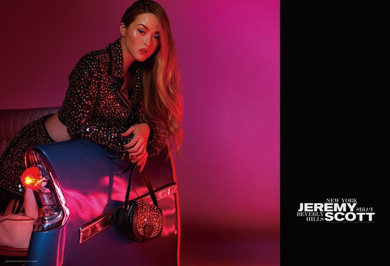 Devon Aoki stars in Jeremy Scott's fall-winter 2016 campaign