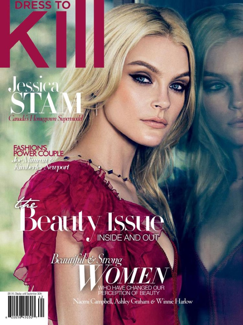 Jessica Stam on Dress to Kill Summer 2016 Cover