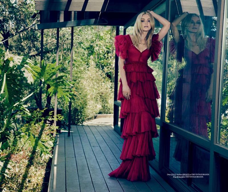 Jessica Stam Shines in Dress to Kill Magazine