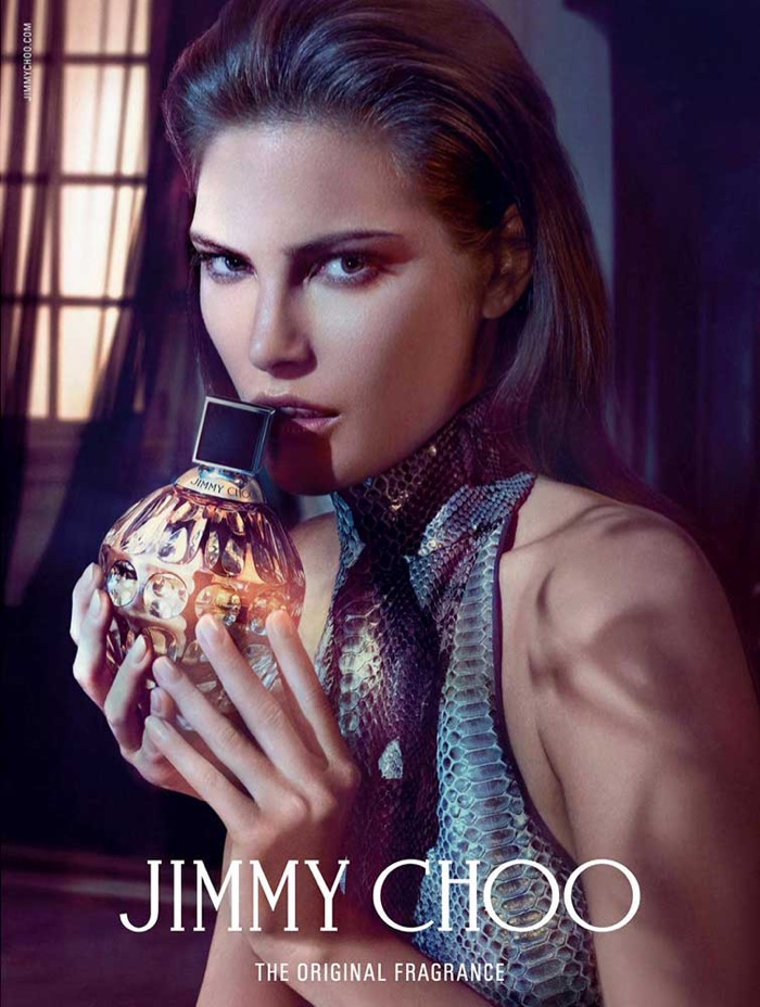Catherine McNeil Seduces in Jimmy Choo's Fragrance Campaign