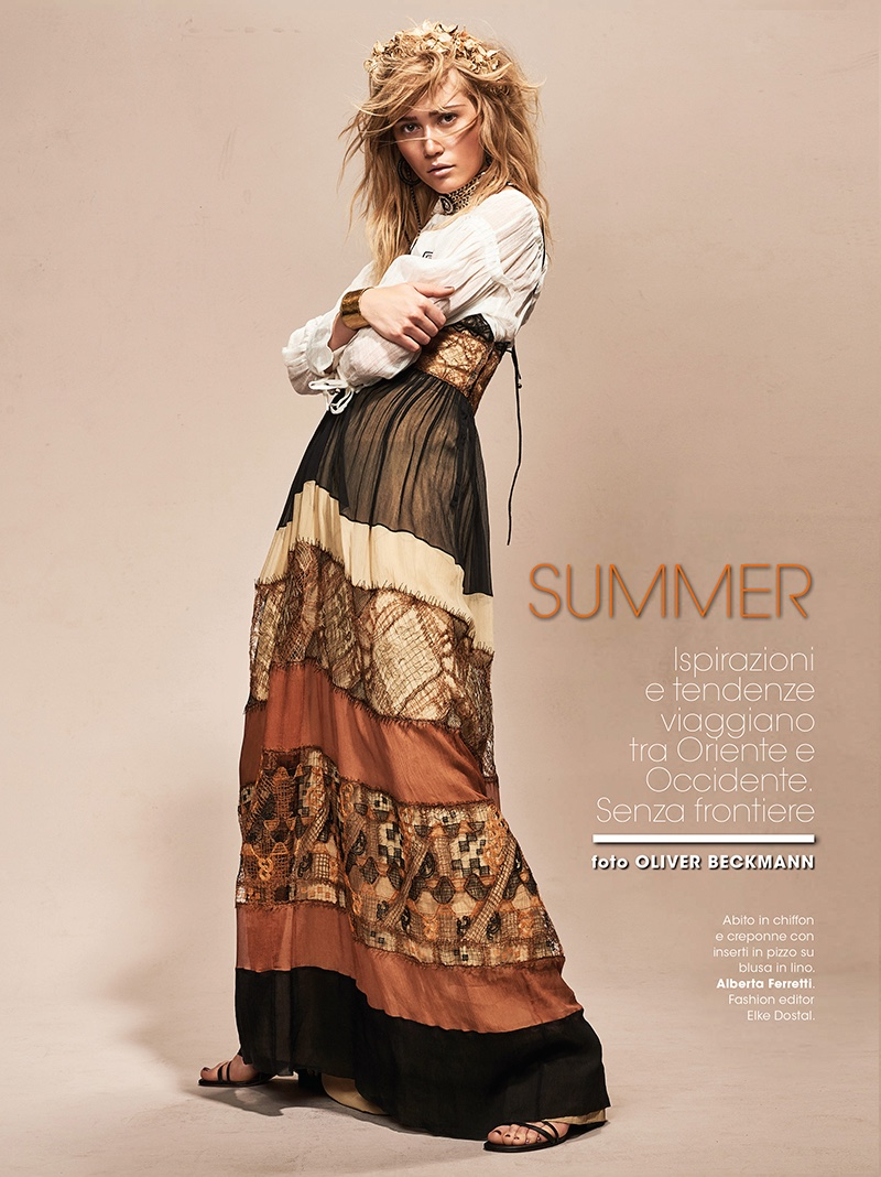 Josefin Bresan stars in Glamour Italy's July issue