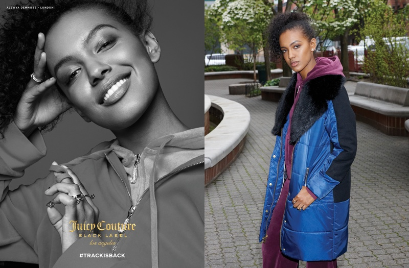Alewya Demmisse stars in Juicy Couture's fall-winter 2016 campaign