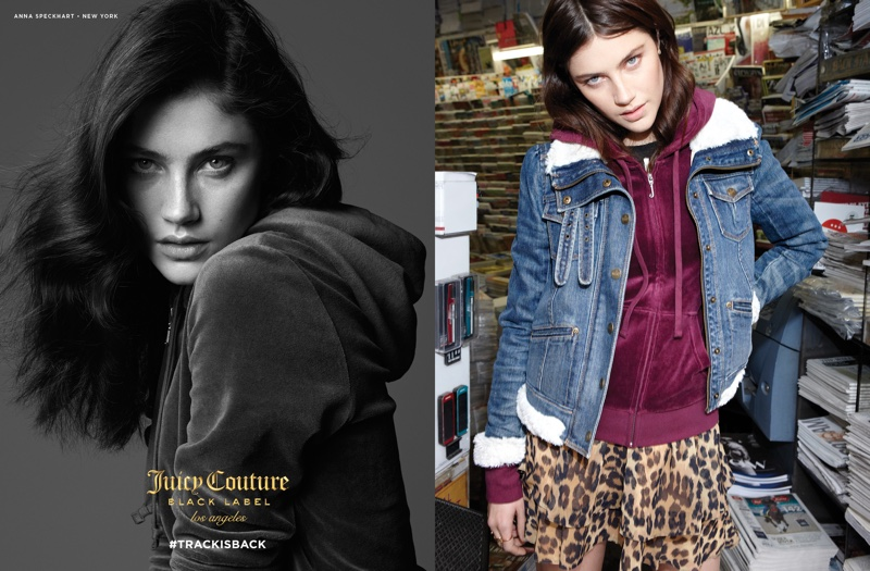 Anna Speckhart stars in Juicy Couture's fall-winter 2016 campaign