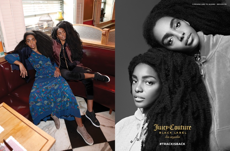 Cipriana and TK Quann stars in Juicy Couture's fall-winter 2016 campaign