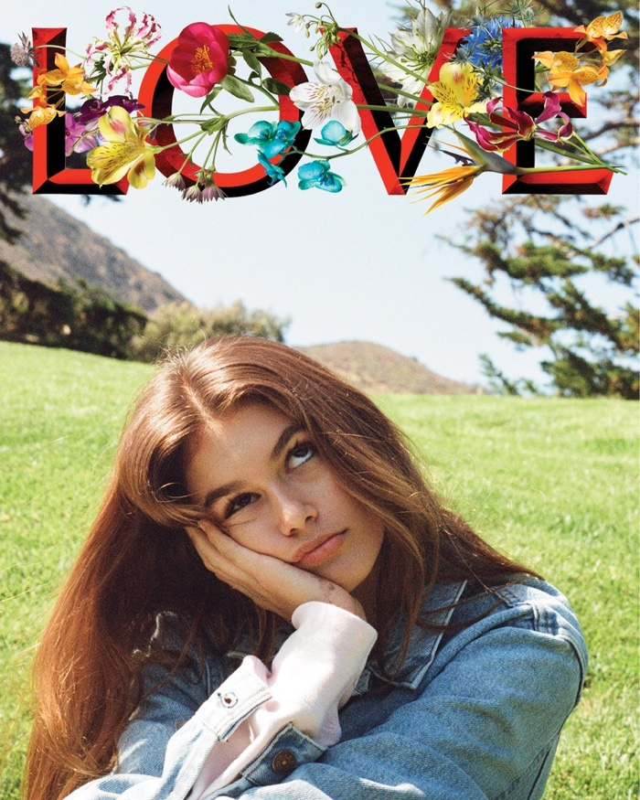 Kaia Gerber on LOVE Magazine Fall-Winter 2016 Cover