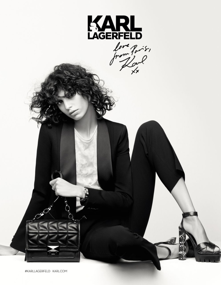 Karl Lagerfeld's fall-winter 2016 campaign features sharp suting