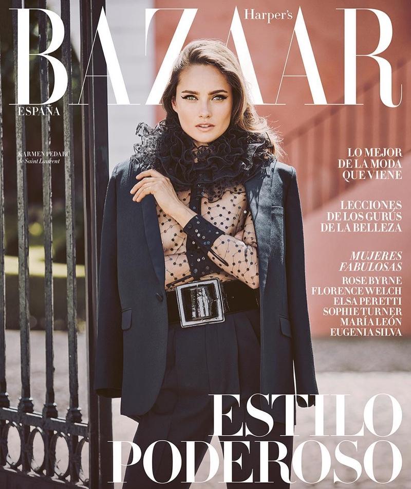 Karmen Paedaru on Harper's Bazaar Spain August 2016 Cover