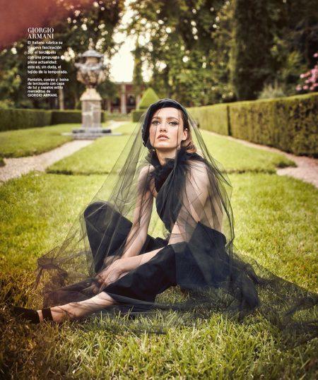 Karmen Pedaru Poses in the Best of Fall for Harper's Bazaar Spain