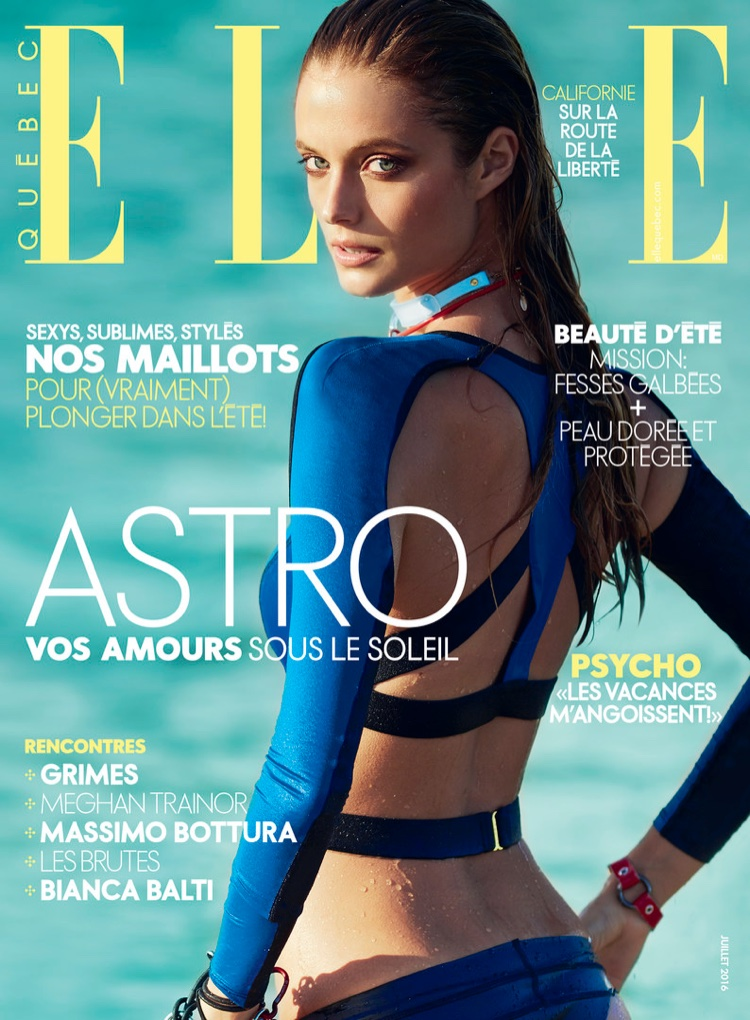 Kate Bock on ELLE Canada July 2016 Cover