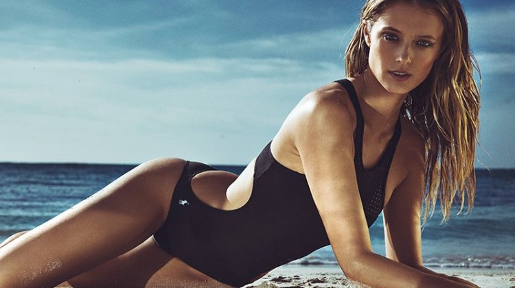 Kate Bock Stuns in Black Swimsuit Styles for Woman Spain