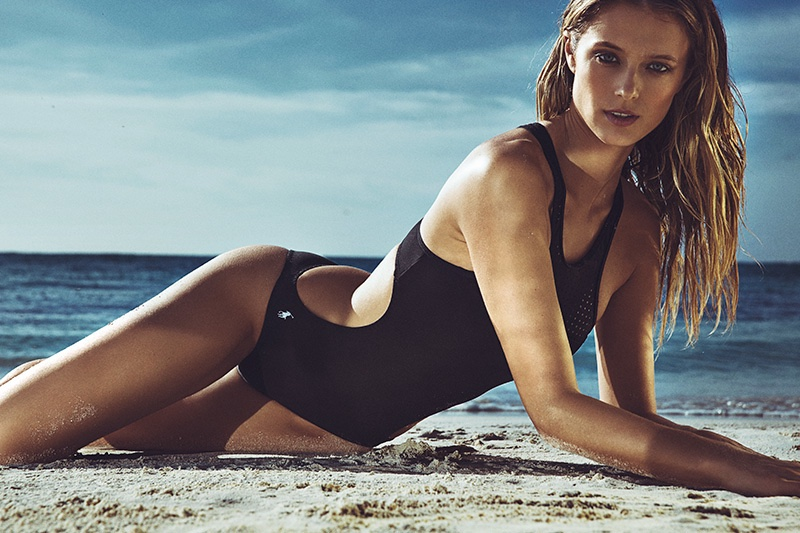 Kate Bock stuns in cutout swimsuit