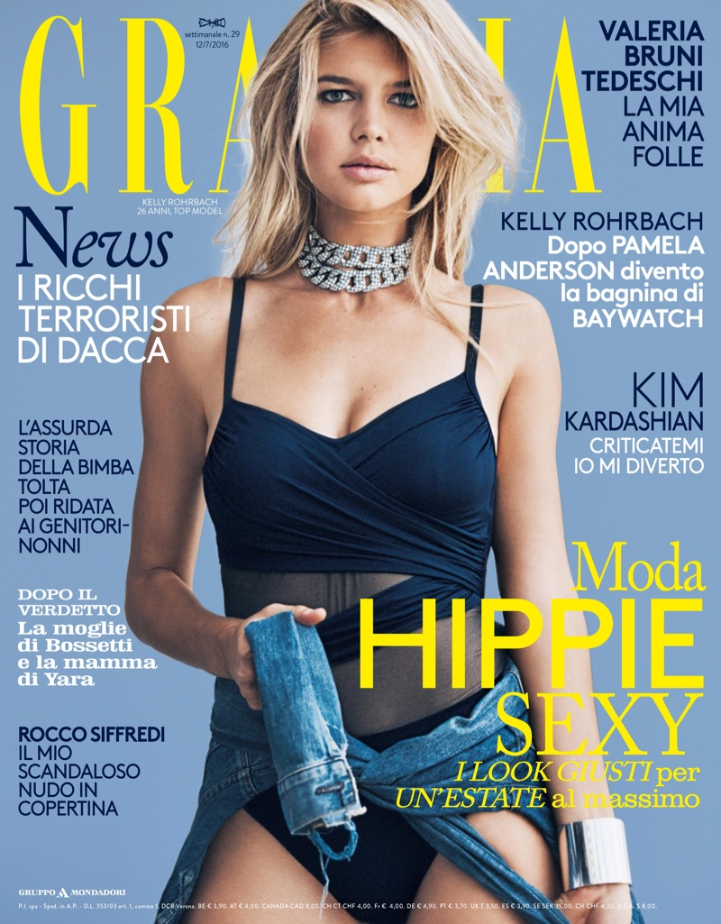 Kelly Rohrbach on Grazia Italy July 2016 Cover