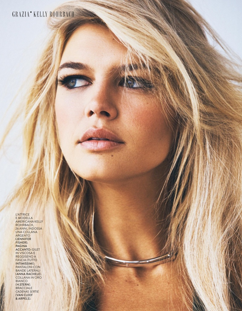 Model and actress Kelly Rohrbach gets her closeup