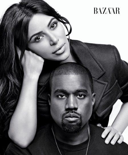 Kim Kardashian & Kanye West Star in Bazaar's September Issue