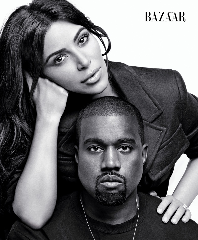 Kim Kardashian & Kanye West Star in Bazaar's September Issue