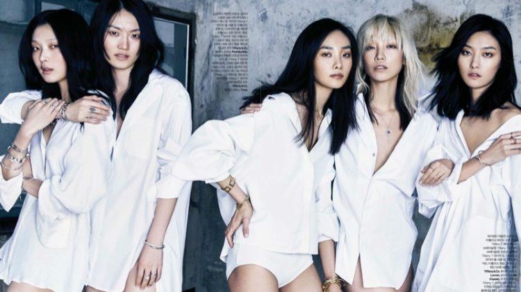 Top Korean Models Join Forces for ELLE Korea Cover Story