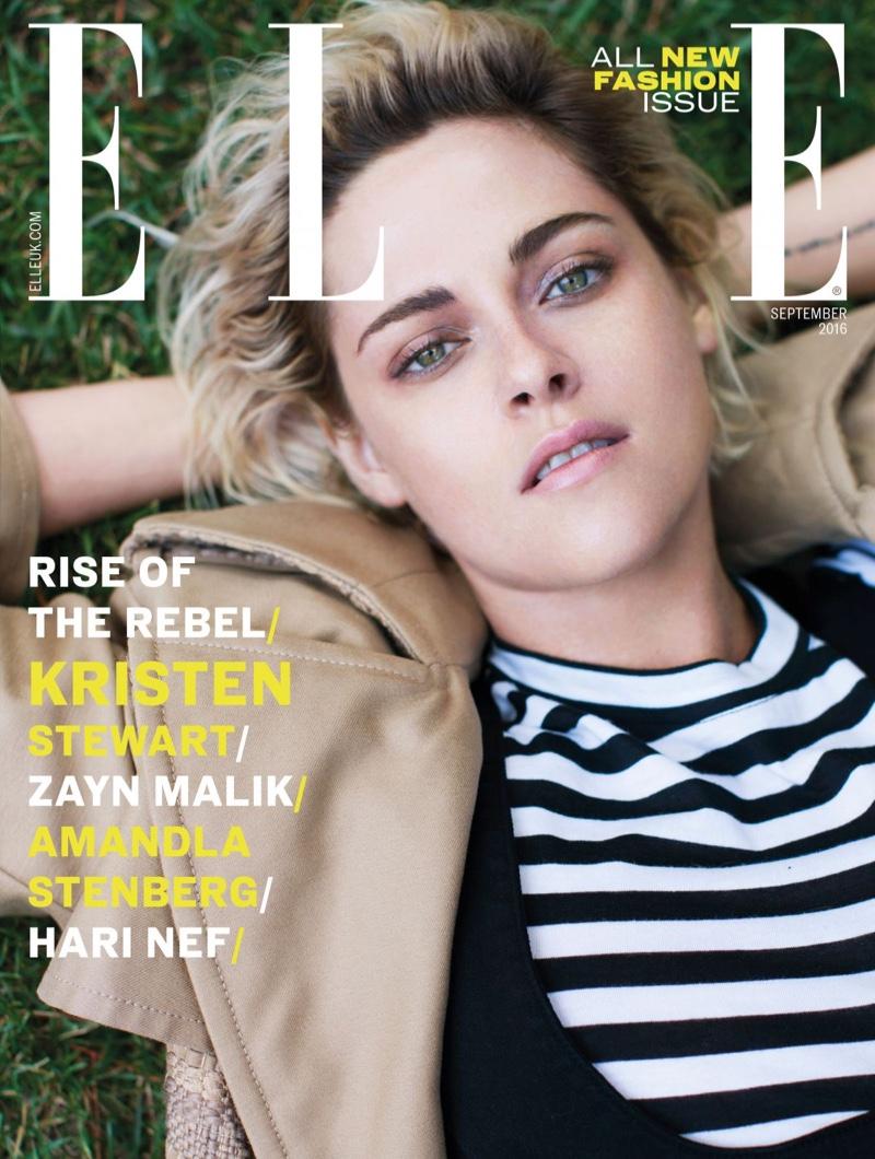 Kristen Stewart on ELLE UK September 2016 Cover