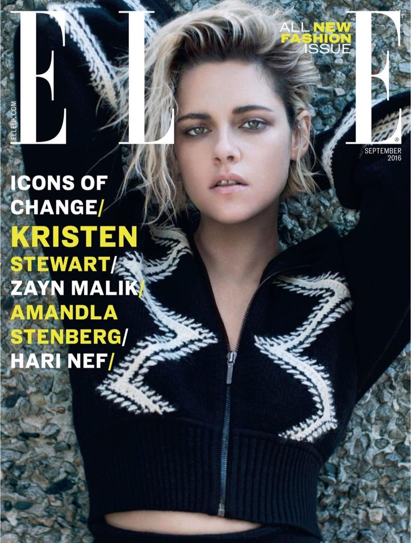Kristen Stewart wears Chanel on ELLE UK September 2016 Cover