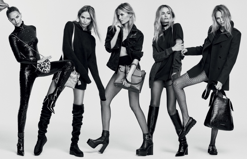 Natasha Poly stars in Kurt Geiger's fall-winter 2016 campaign