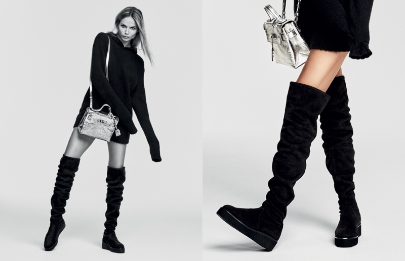 Kurt Geiger features over-the-knee boots in fall 2016 campaign