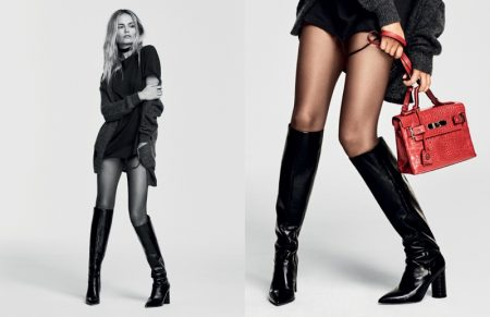 Natasha Poly Flaunts Some Leg in Kurt Geiger's Fall 2016 Ads