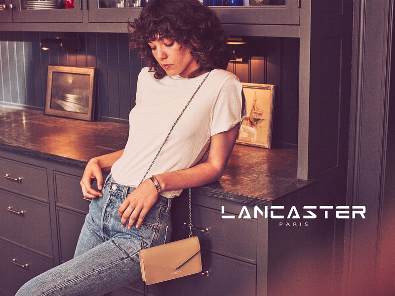 Lancaster Paris features Adele clutch bag in fall 2016 campaign