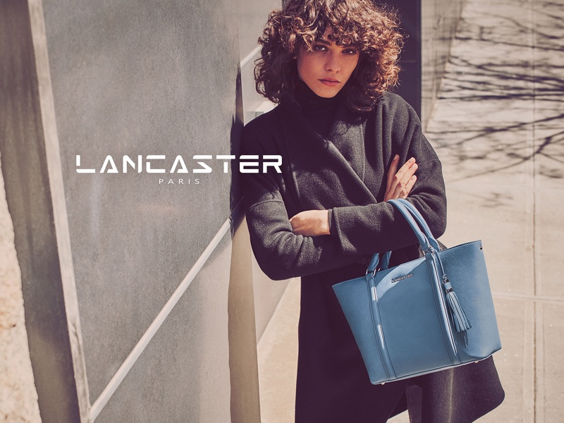 Lancaster Paris features Mademoiselle Ana tote bag in fall 2016 campaign