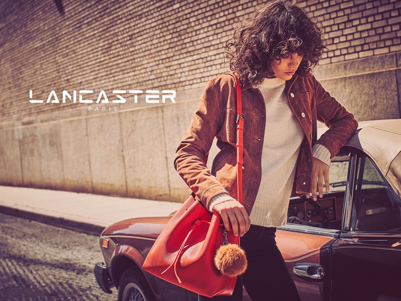 Lancaster Paris spotlights Pur Taurillon handbag in fall 2016 campaign