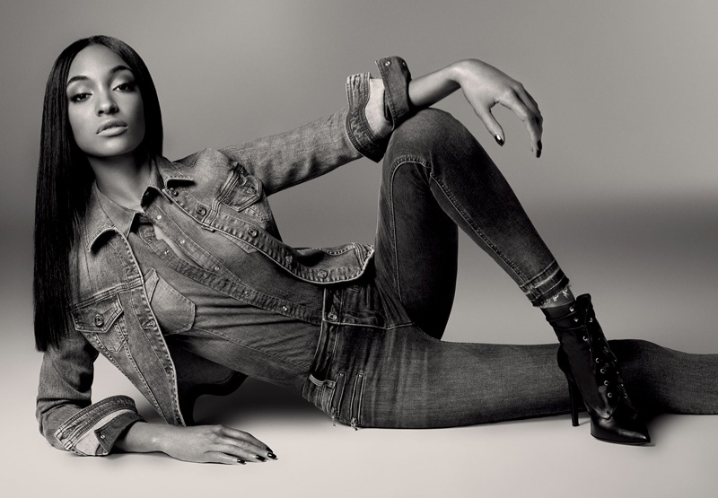 Jourdan Dunn stars in Liu Jo Blue Denim fall-winter 2016 catalog