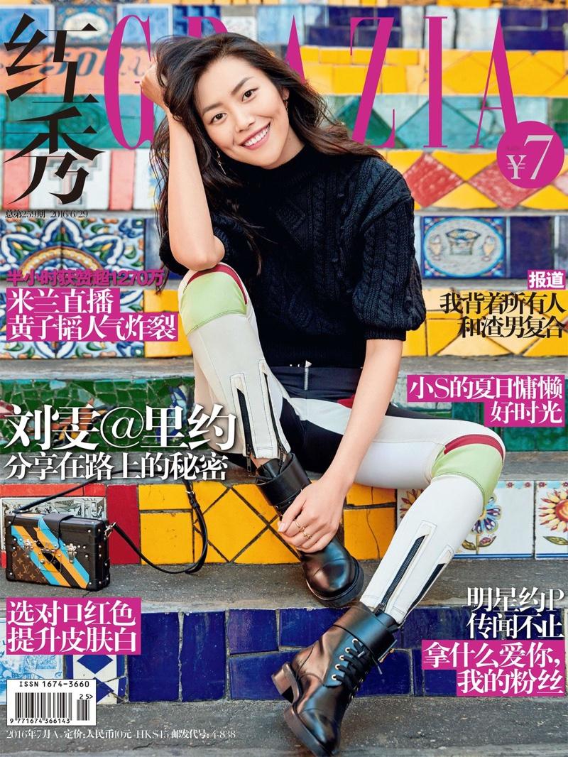 Liu Wen on Grazia China June 2016 Cover