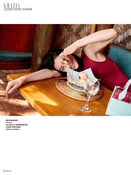 Liu Wen Keeps It Casual in Louis Vuitton for Grazia China