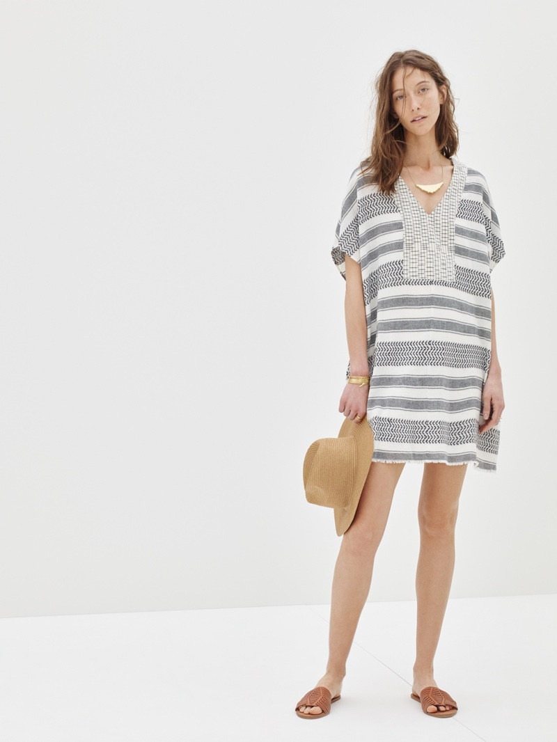 Madewell Sahara Dress, Straw Mesa Hat and Willa Slide Sandal