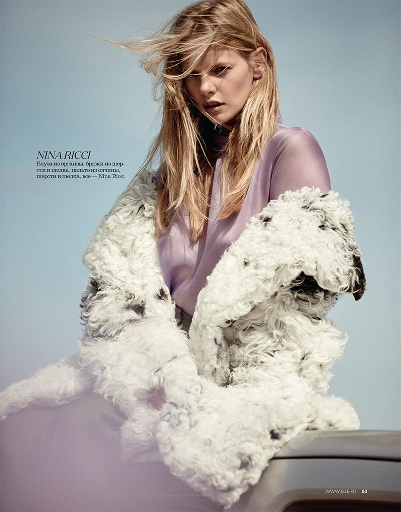 Marloes Horst looks pretty in pastels wearing Nina Ricci