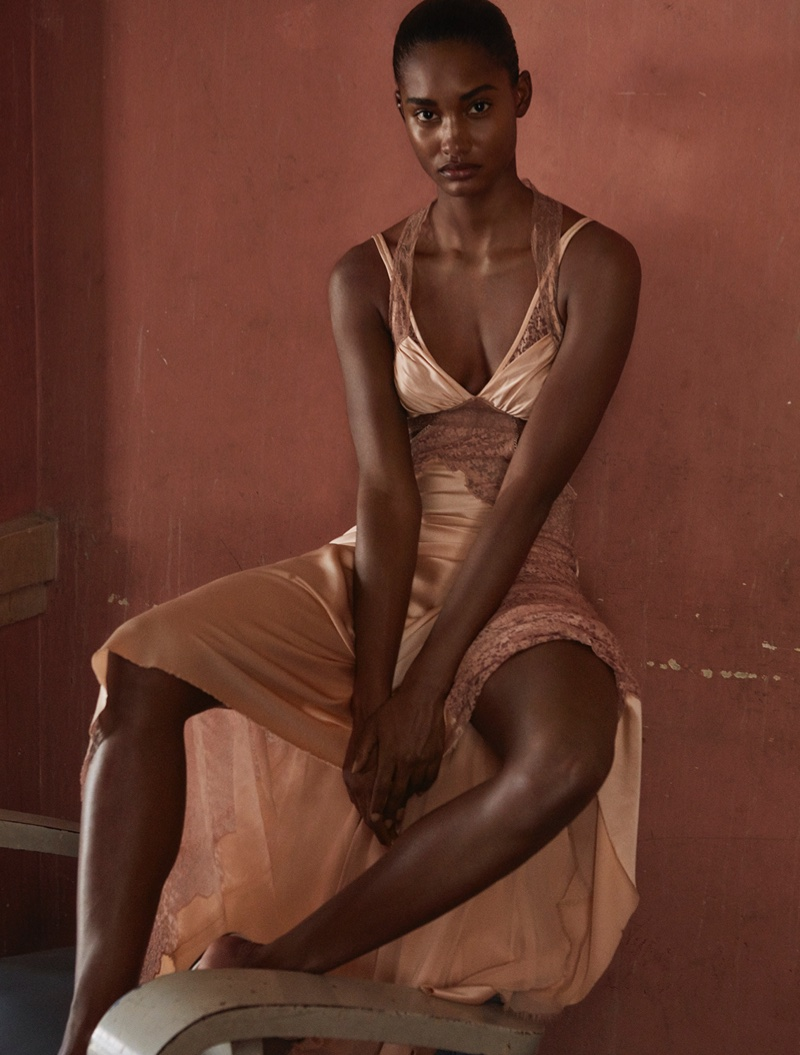 Melodie Monrose Poses in Dreamy Dresses for Stylist France