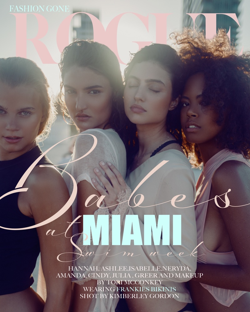 Kimberley Gordon photographs Miami Swim Week Models