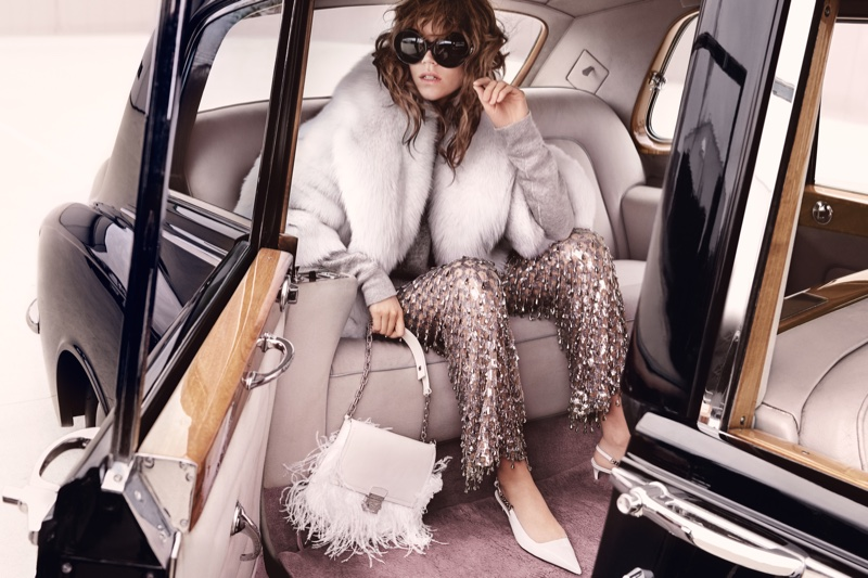 Freja Beha Erichsen turns up the glam in faux fur for Michael Kors' fall 2016 campaign