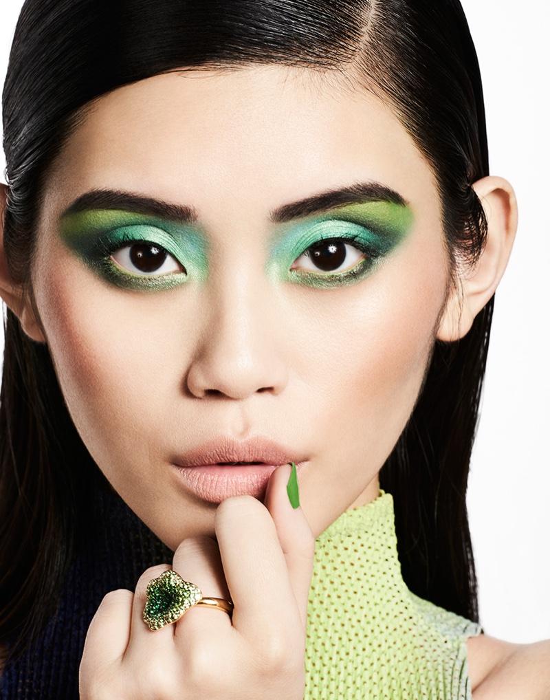 Ming Xi stars in Hello Fashion beauty editorial