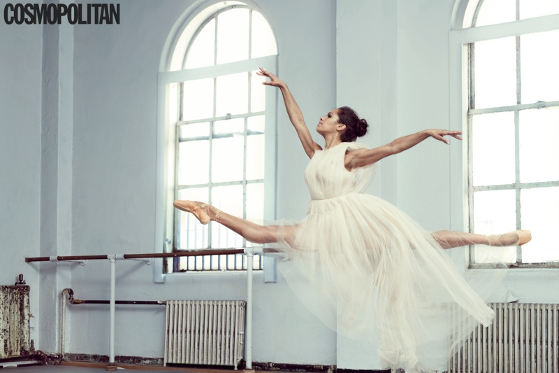 Balerina Misty Copeland makes an appearance in Cosmopolitan Magazine's August issue