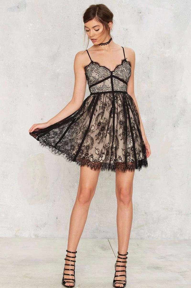 Nasty Gal Braden Lace Mini Dress
