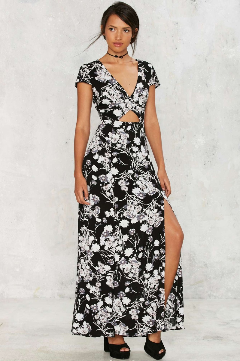 Nasty Gal Need a Trim Floral Maxi Dress
