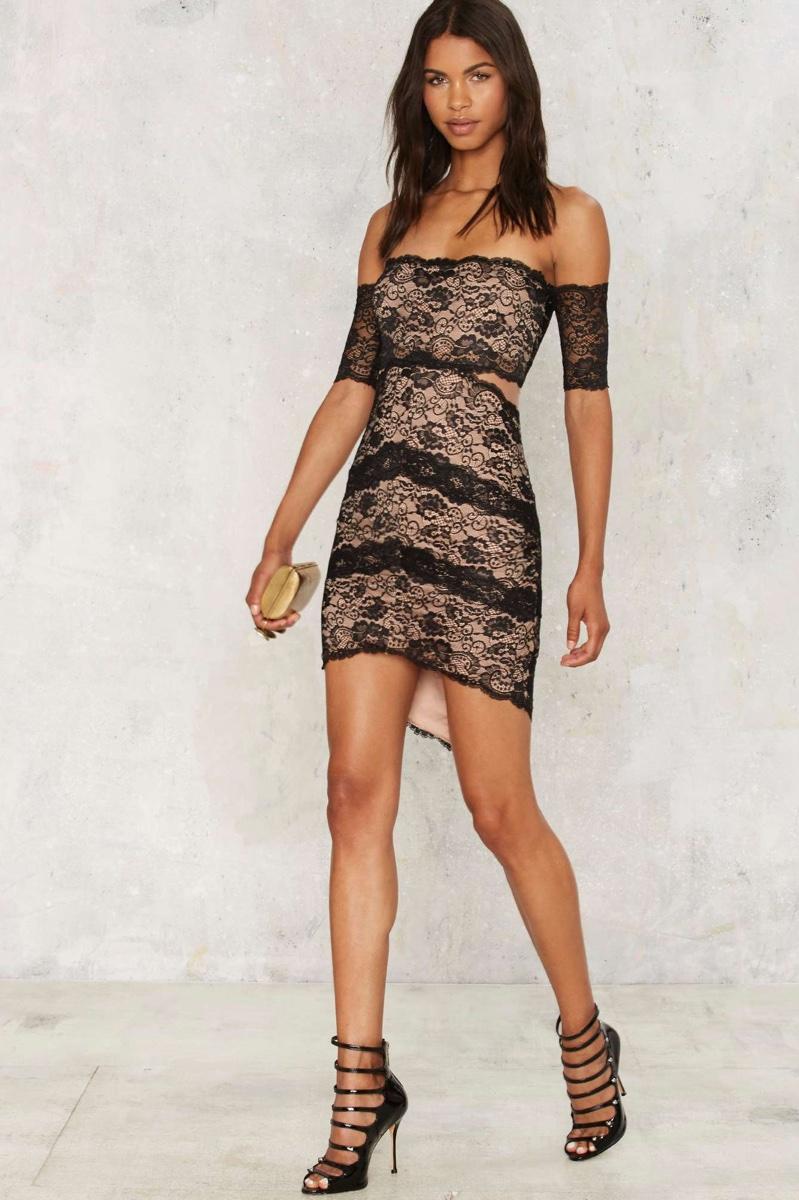 Nasty Gal Nika Lace Mini Dress