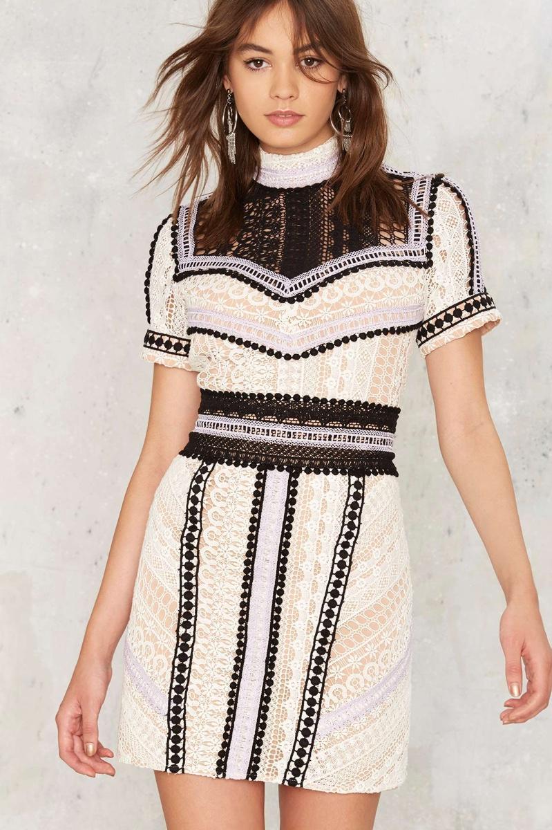 Nasty Gal Sentimental Lady Crochet Lace Dress