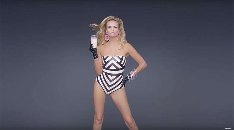 Natasha Poly stars in Fergie's M.I.L.F.$ music video