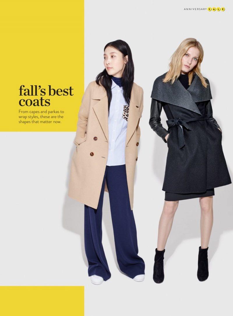 Diane von Furstenberg Double-Breasted Walking Coat and Mackage Wrap Coat.