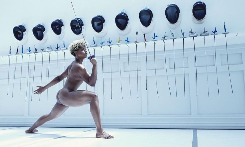 Nzingha Prescod poses for ESPN's 2016 Body Issue
